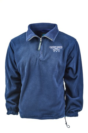 Operate deck Fertile  Vincent Arroyo Winery - Products - Navy Blue 1/4 Zip Pullover Fleece
