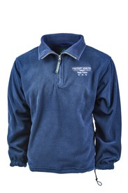 NAVY BLUE 1/4 ZIP PULLOVER FLEECE